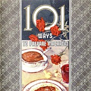 SOLD 1942 'La Rosa' Advertising Cookbook , Lithograph Illustrations, 101 Ways To Prepare ...