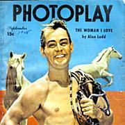 SOLD RARE September, 1948 Photoplay Magazine 'Hollywood Icons' - Judy Garland / Humphrey Bogar