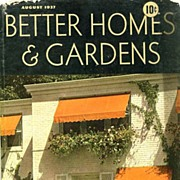 SOLD August,1937 Better Homes & Gardens Magazine, Advertising - Meta Given  / New England
