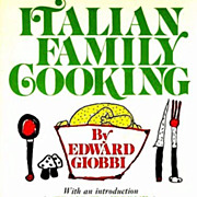 1971 Edward Giobbi 'Italian Family Cooking' RARE 1st Ed,1st Printing, Children's Illustrations