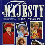SOLD Majesty Magazine Royal Year 1991 Royal Family 'Princess Diana' - Dave Chancellor Photogra