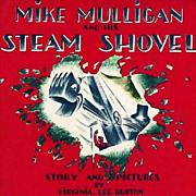 SOLD 1967 'Mike Mulligan And His Steam Shovel' Scarce DJ - Virginia Lee Burton, Vintage, Pictu