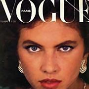 SALE Vogue Magazine September 1980, Haute Couture, Paris, Fashion Designers, French, Models, P