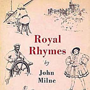 SALE 1937 'Royal Rhymes' British Poetry, 1st Ed, DJ, Illustrated, English Monarchy, Out-Of-Pri