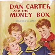 SOLD 1950 'Dan Carter and the Money Box' Cub Scouts, 1st Ed, RARE Unclipped DJ, Boys Series, V