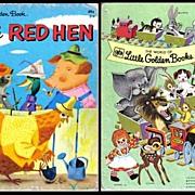 SOLD Little Golden Book 'The Little Red Hen' VINTAGE