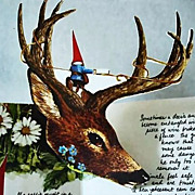SOLD 1979 'The Pop-Up Book of Gnomes' 1st Ed, 1st Print,  Rien Poortvliet, Will Huygen, Mythol