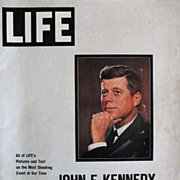 SOLD 1963 LIFE Magazine, President John F. Kennedy, Memorial Edition, Jackie Kennedy, Vintage