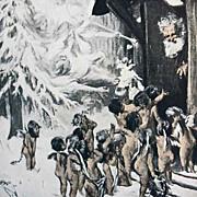 SOLD 1907 'The Land of Make-Believe' Christmas Poems, Illustrated, Wilbur Nesbit, RARE Antique