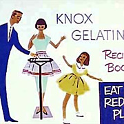 1952 Knox Gelatine Recipe Book, Advertising, Retro Color Lithograph Illustrations, Nutrition