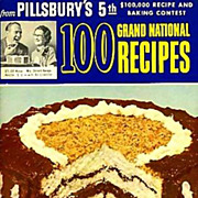 SOLD 1954 Pillsbury's 5th Grand National Cookbook, Stated 1st Ed, Advertising, Recipes