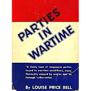 SOLD 1943 'Parties in Wartime' DJ, 1st Ed, Military, Entertaining, Rationing, Games, History,