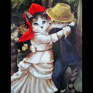 1992 Impressionist Cats, Art, Susan Herbert, Stated 1st Ed, DJ, Humor, Feline Art, Out-of-Print