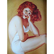 SALE 1991 'Varga', 1940's Calendar Art, Pin-Up Girls, Cheesecake, Esquire Magazine, Alberto