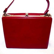 SOLD STYLISH Vintage Red Leather Purse – MAD MEN Fashion