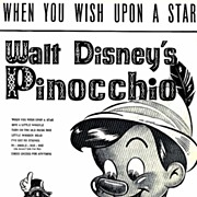SOLD 1961 Walt Disney's PINOCCHIO 'When You Wish Upon A Star' – Sheet Music / RARE / Vin