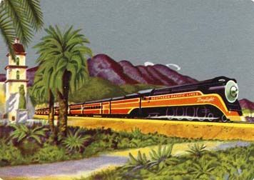 1930's Southern Pacific Lines Railroad Playing Cards – Daylight Train / Souvenir / Vintage / Travel