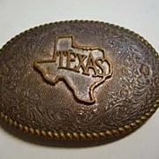 SOLD Vintage Texas CRUMRINE Jewelers Western Belt Buckle  – Heavy Silver Plate On Jewelers B