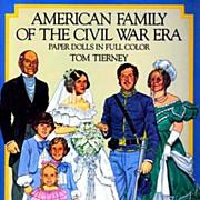 SOLD Tom Tierney Paper Dolls, Uncut, 1800's Civil War Fashion - 1985 Original Dover, American