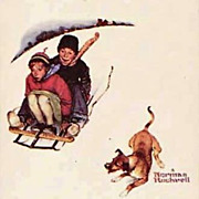 SOLD Norman Rockwell Playing Cards 'Four Seasons', Winter,  Vintage, Unused