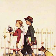 SOLD Norman Rockwell Playing Cards 'Four Seasons', Fall, Vintage, Unused