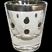 Mad Men 1960's Mid Century Modern Shot Glass, Silver Rim, Dorothy Thorpe, Eames Era, Vintage