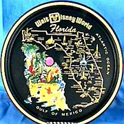SOLD Walt Disney World Florida Tray, Collector's Vintage – Mickey Mouse, Donald Duck, ...