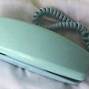 "SOLD Vintage Western Electric Turquoise Telephone -  ""Trimline"" Rotary Dial"
