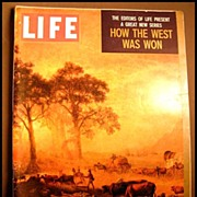SOLD RARE April 1959 Life Magazine 'How The West Was Won' -  Dr. Seuss / Native American ...