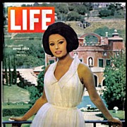 SOLD Vintage Life Magazine with Sophia Loren in Villa  -  Sept 1964
