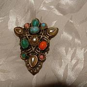 SALE Early 20th Century Dress Clip - Renaissance Revival