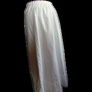 White Cotton Under Skirt w/Crochet Hem S/M