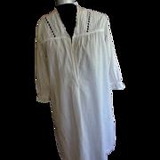 Victorian  White Cotton  Night Dress  Sm