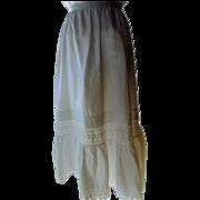 White Cotton Victorian Petticoat S