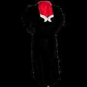 1950's Black Velvet Dress M/L