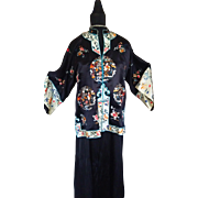Embroidered Oriental Silk Jacket