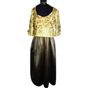 MICHAEL NOVARESE 1960's Embroidered Evening Gown