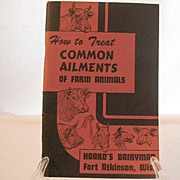 SOLD Vintage Collectible Hoards Dairyman Book How To Treat Common Ailments Of Farm Animals 194