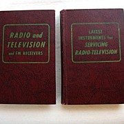 SALE Two Vintage Collectible Books Television TV Repair & Information Hard Back by Coyne 1957