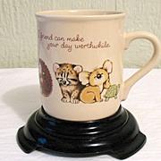 50% OFF Darling Vintage Collectible Hallmark Friendship Animal Theme Mug~1983~MINT