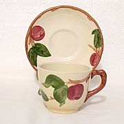 Vintage Collectible Cup & Saucer Set by Gladding McBean & Co. In The Franciscan classic Apple