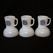 SALE Vintage Collectible Anchor Hocking Fire King 3-Breakfast Sets with Currier & Ives Decals