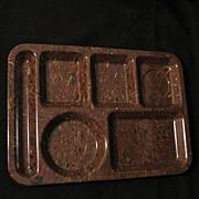 Vintage Collectible Retro Texas Ware Confetti Design Food/Serving Tray in Hard Plastic Mint ..