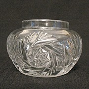 SALE Vintage Collectible Heisey Glass Vanity Hair Receiver/Jar Sunburst Pattern 1903-1912 Mint