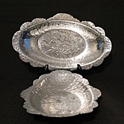 SOLD Vintage Collectible Hammered Aluminum Serving Trays~Rodney Kent~Tulip~1930-50~Mint Condit