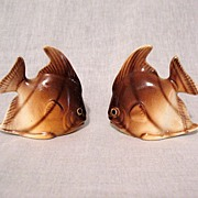 SALE Vintage Collectible Angel Fish  S & P Shakers 1950s Mint Condition