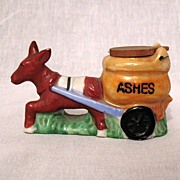 Vintage Collectible Donkey Pulling Cart Ashtray 1950-60s Mint