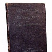 SALE Vintage Collectible Air Navigation & Meteorology Book by Captain Richard Duncan, M.C. 192
