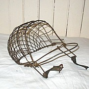 SALE Vintage Primitive Wire Mask Calf Weaning Device Early 1900s