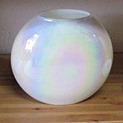SALE Vintage Hand Blown Opalescent/Iridescent Pillow Vase 1960s Mint